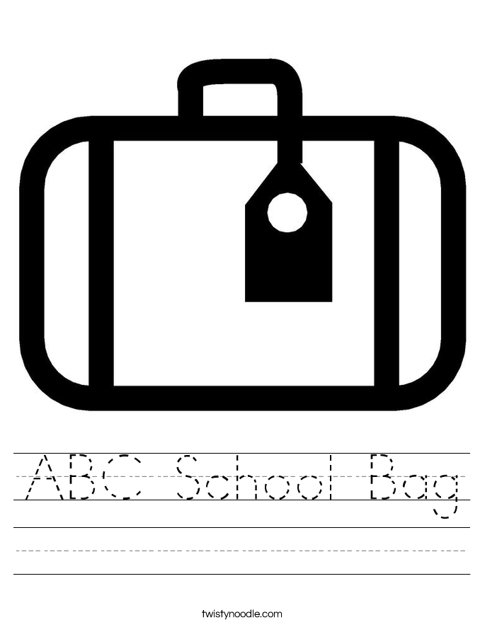 ABC School Bag Worksheet