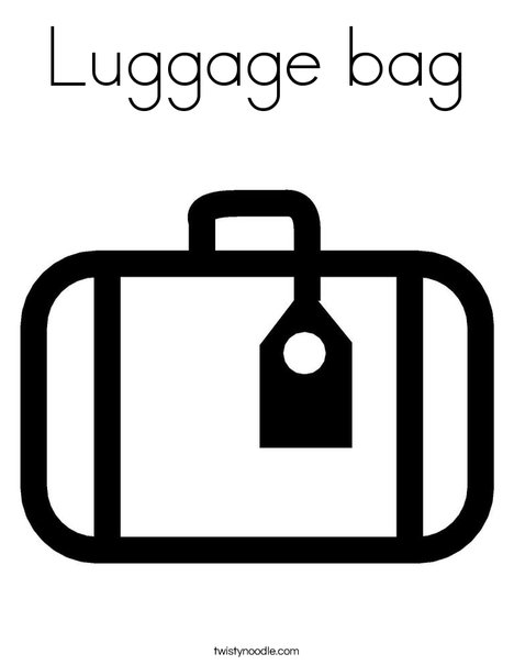 Luggage with Tag Coloring Page