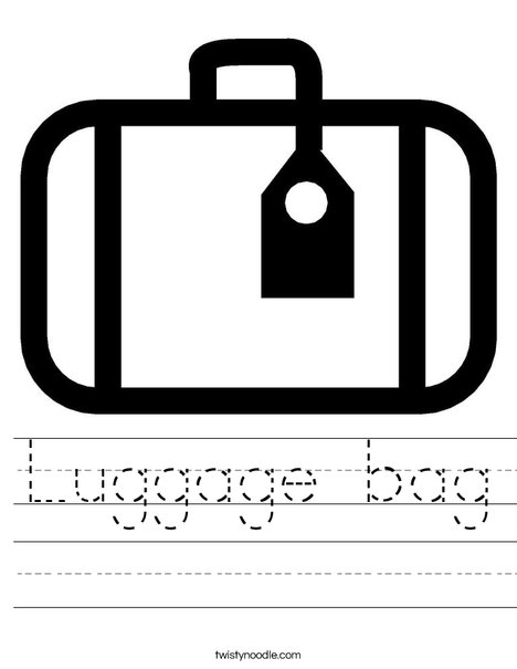 Luggage with Tag Worksheet