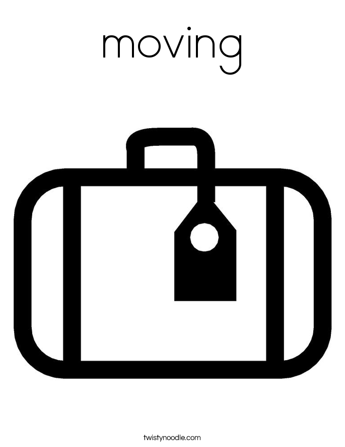 moving Coloring Page