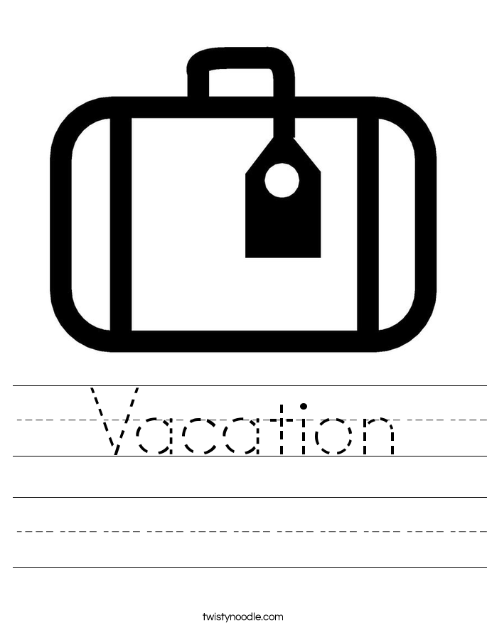 Vacation Worksheet