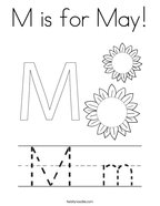 M is for May Coloring Page