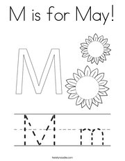 M is for May! Coloring Page
