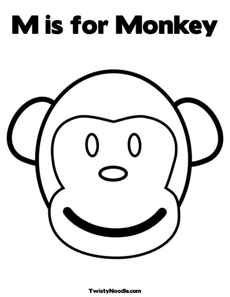 circus #coloring #monkey #pages #2020 | Monkey coloring pages ... | 605x468