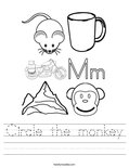 Circle the monkey Worksheet
