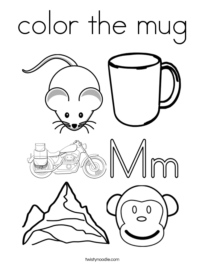 color the mug Coloring Page