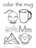 color the mugColoring Page