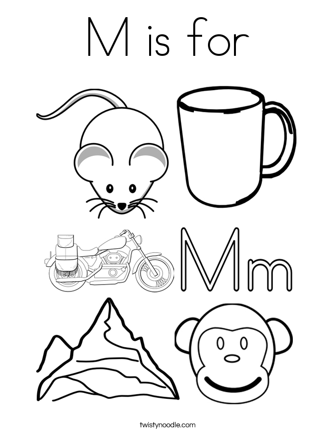 m coloring pages - photo #50
