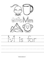 M is for Handwriting Sheet