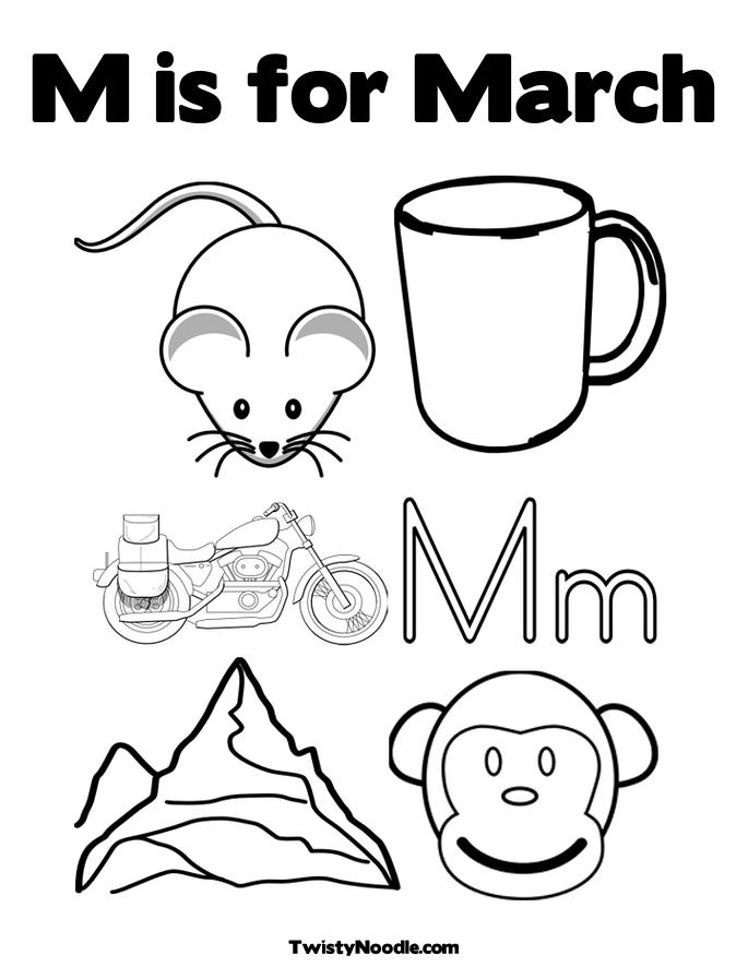 March Free Coloring Pages March Coloring Pages Free
