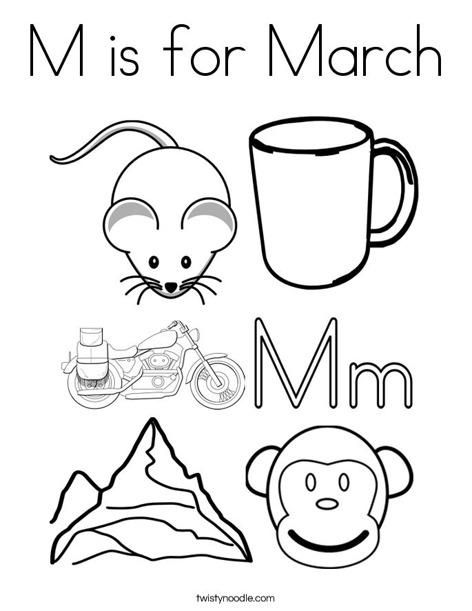 march coloring book pages - photo#27