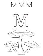 M M M Coloring Page