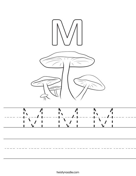 M Mushrooms Worksheet