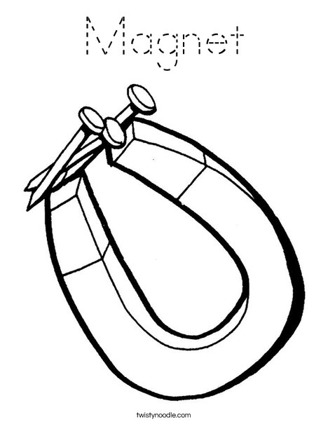 Magnet and Nails Coloring Page