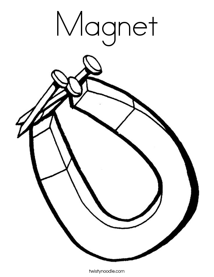 Magnet Coloring Page Twisty Noodle – Magnets Worksheets