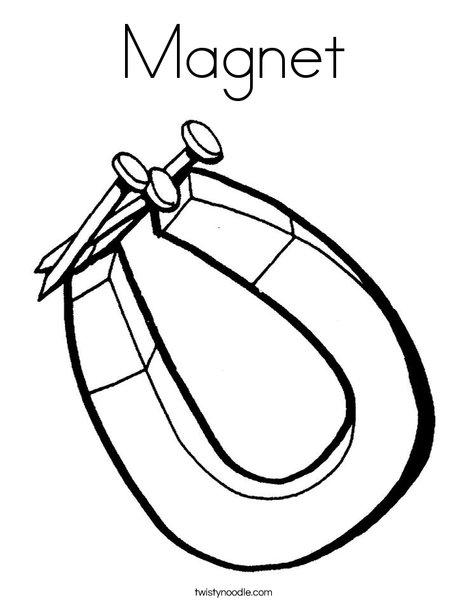 Magnet Coloring Page Twisty Noodle