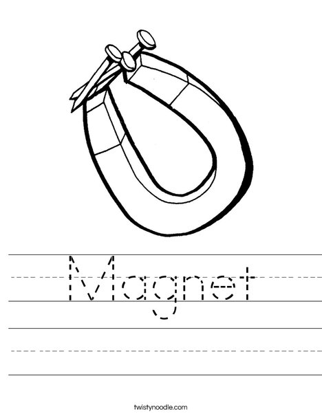Magnet Attraction Worksheet - Classroom Objects