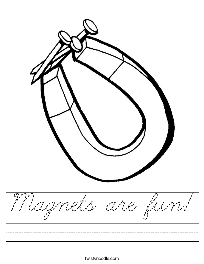 Magnets are fun! Worksheet