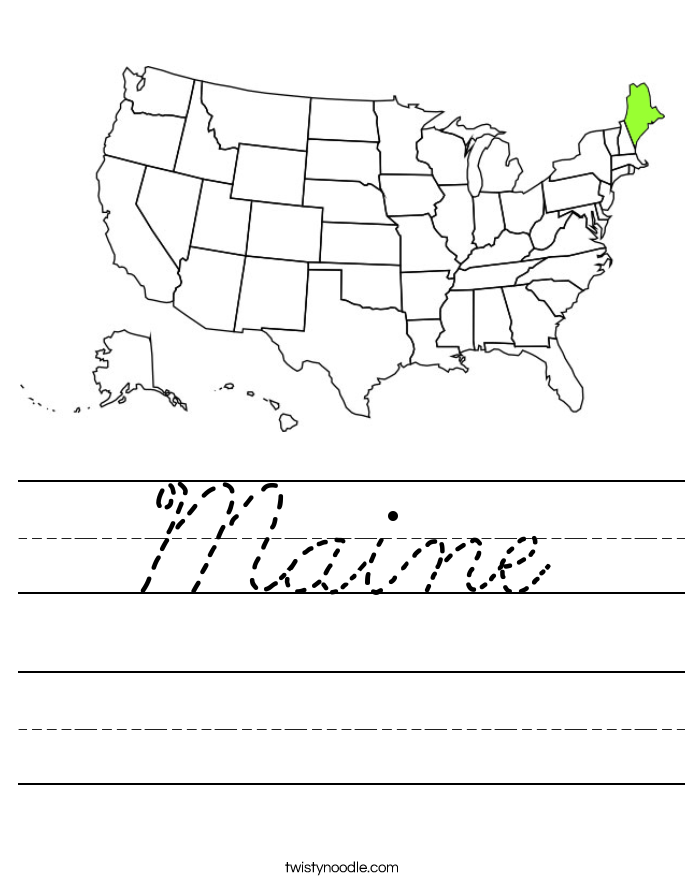 Maine Worksheet