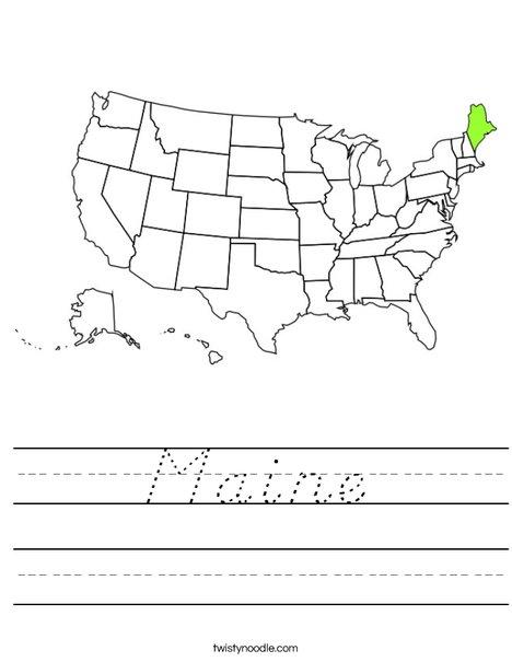 Maine Worksheet