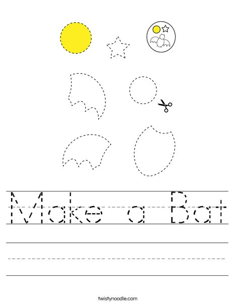 Make a Bat Worksheet
