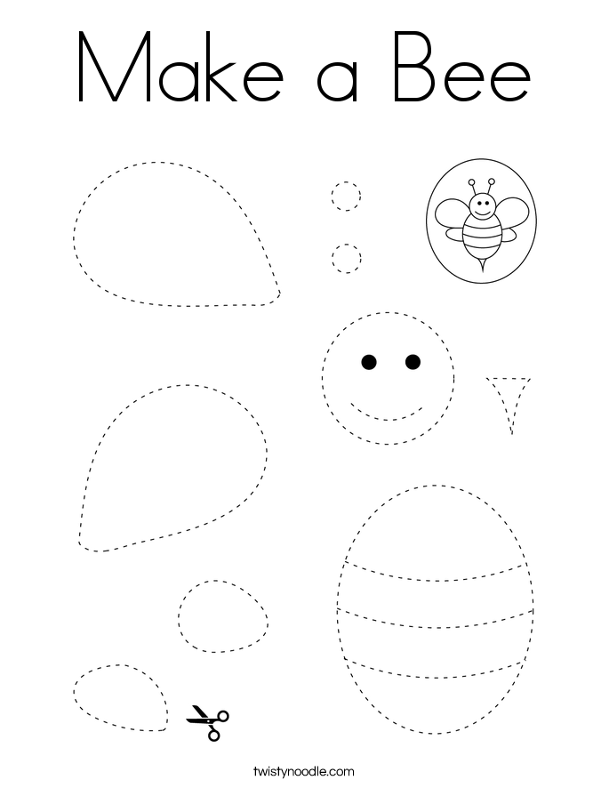 Make a Bee Coloring Page