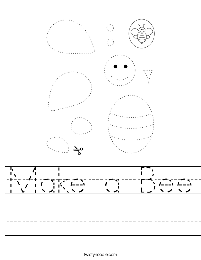 Make a Bee Worksheet