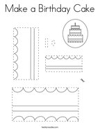 Make a Birthday Cake Coloring Page