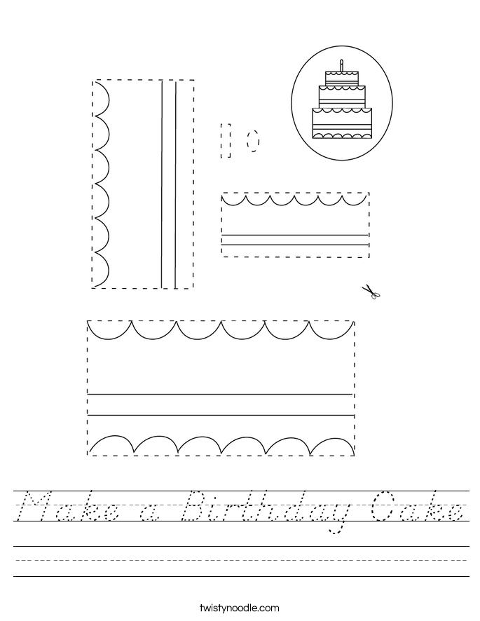 Make a Birthday Cake Worksheet