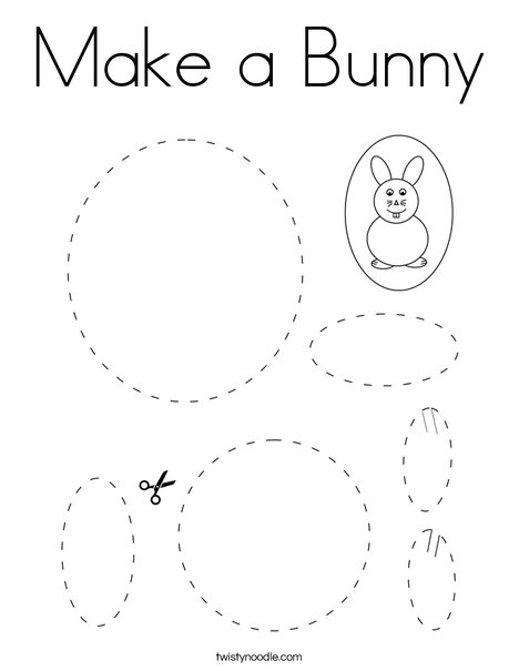Make a Bunny Coloring Page