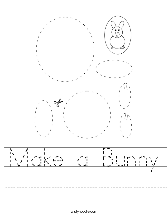 Make a Bunny Worksheet