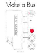 Make a Bus Coloring Page