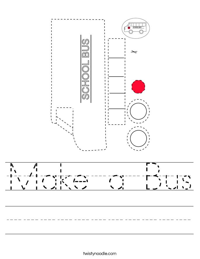 Make a Bus Worksheet