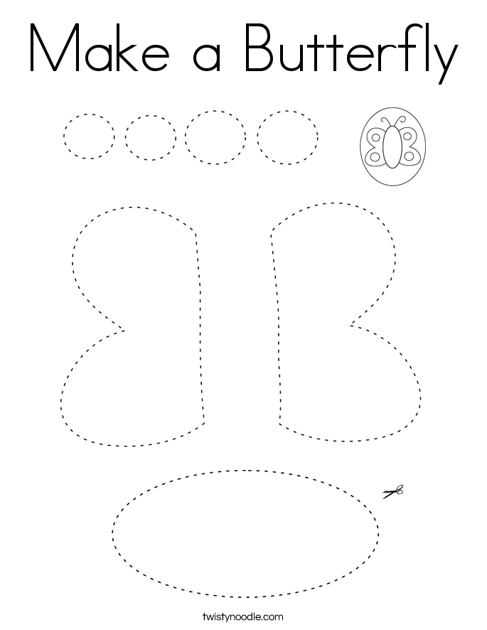 Make a Butterfly Coloring Page