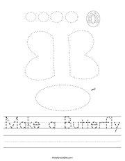 Make a Butterfly Handwriting Sheet