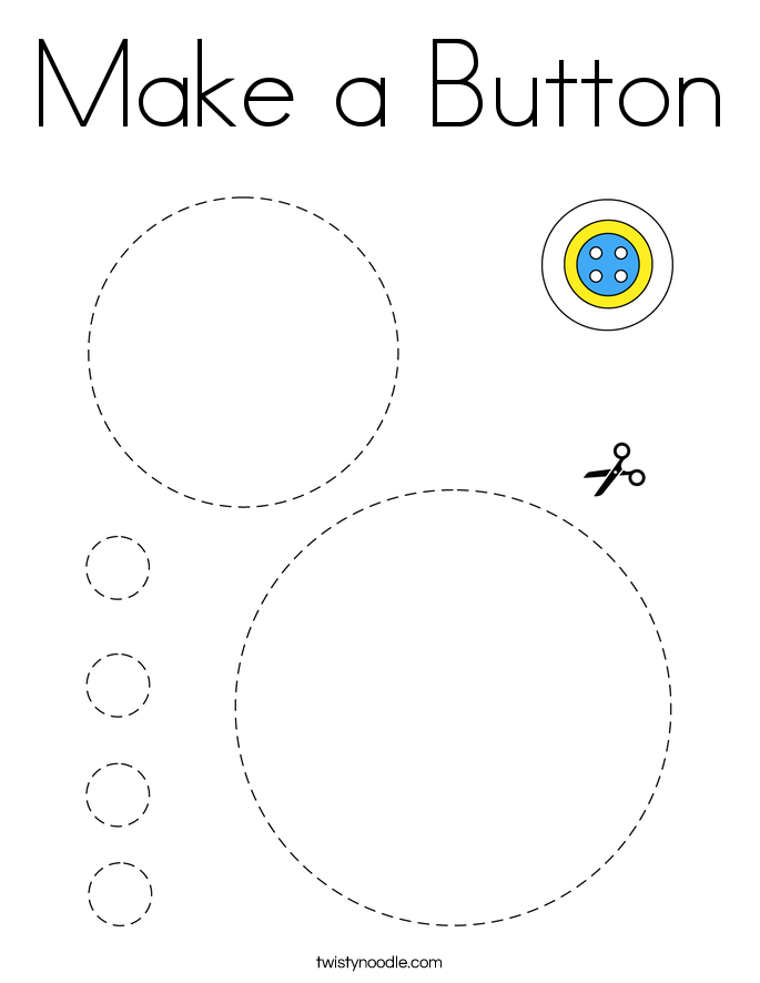 Make a Button Coloring Page