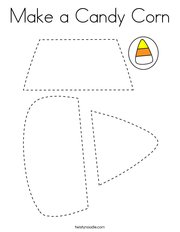 Make a Candy Corn Coloring Page
