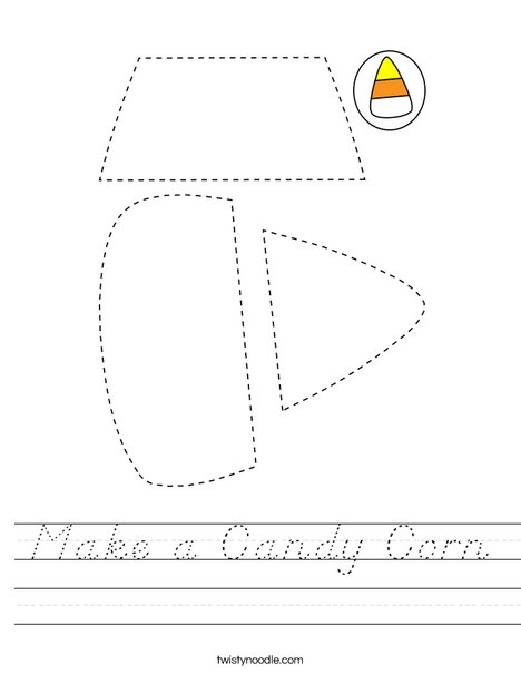 Make a Candy Corn Worksheet