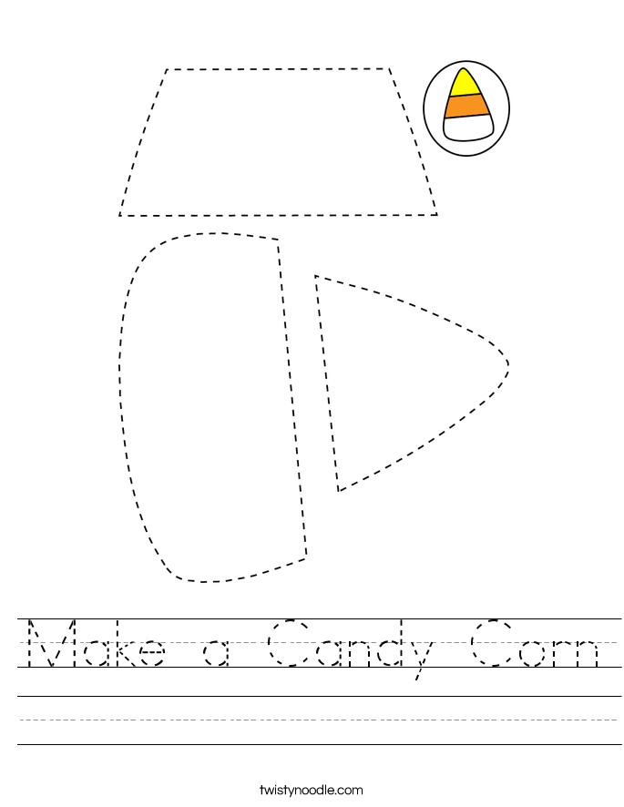 Make a Candy Corn Worksheet