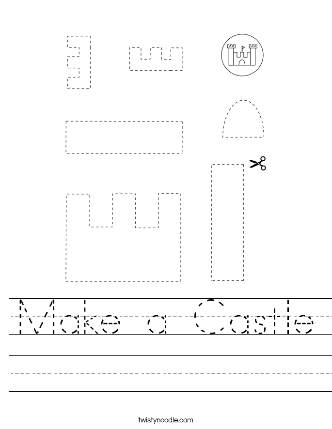 Make a Castle Worksheet