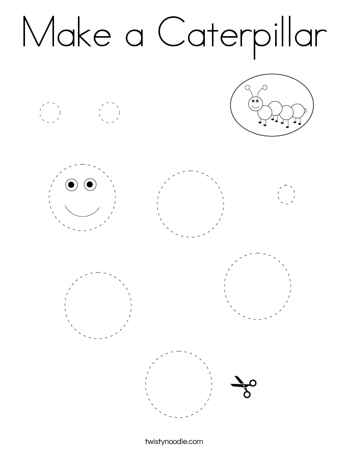 Make a Caterpillar Coloring Page