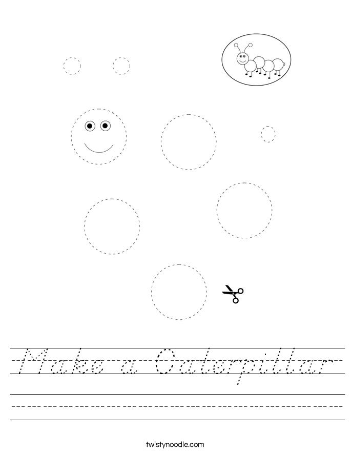 Make a Caterpillar Worksheet