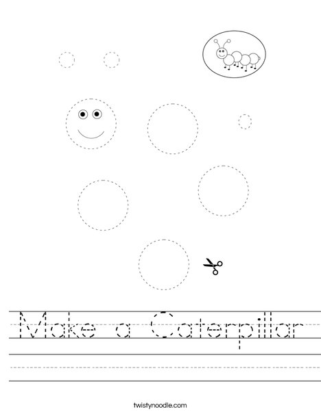Make a Caterpillar Worksheet