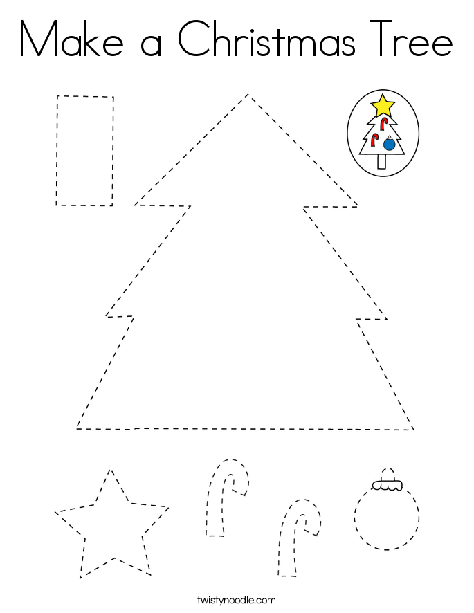 Make a Christmas Tree Coloring Page
