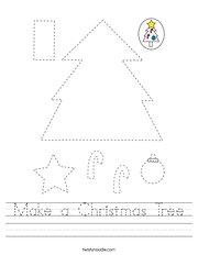 Make a Christmas Tree Handwriting Sheet