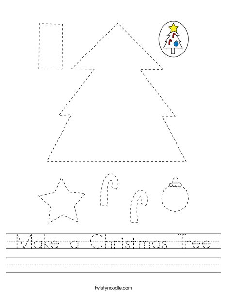 Make a Christmas Tree Worksheet