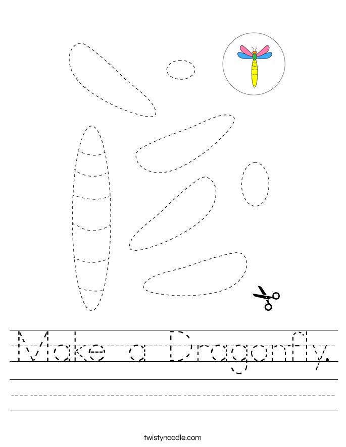 Make a Dragonfly. Worksheet