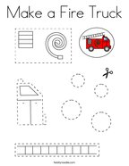 Make a Fire Truck Coloring Page