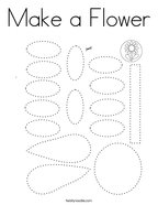 Make a Flower Coloring Page