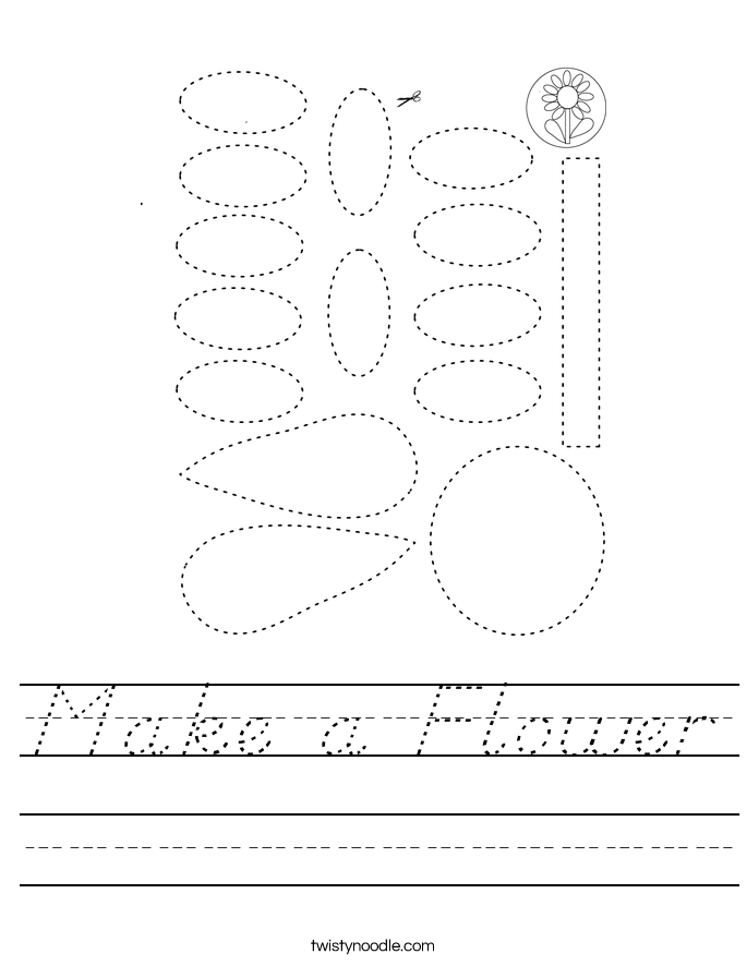 Make a Flower Worksheet